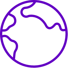 A globe icon representing Public data intelligence solutions