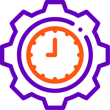 An image of clock indicating time 09:00 which is surrounded by two circular lines - Reduce time to market for data solutions