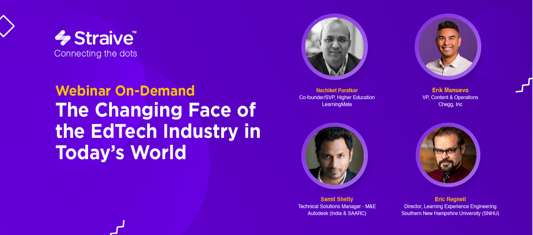 Webinar - The changing face of the Edtech Industry